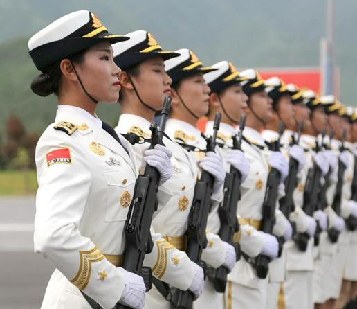 高清:探秘阅兵村 三军仪仗队女兵将首次亮相阅兵式