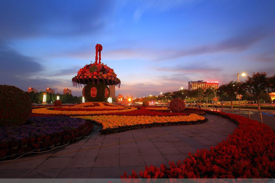 【安阳摄影师 张文峰】安阳文化广场国庆节花篮
