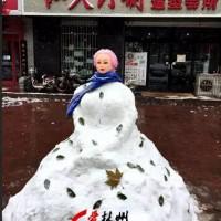 林州:雪人各领风骚,不信你看!