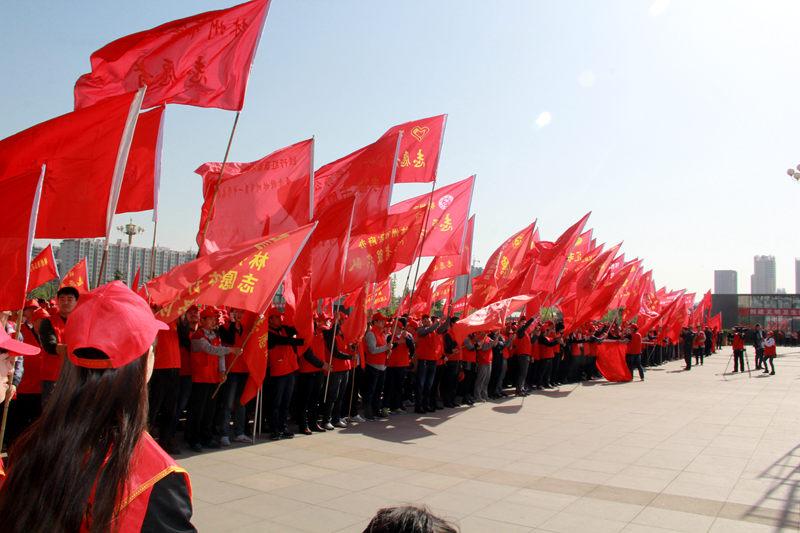 """林州:举行创建""""全国文明城市万名志愿者签字活动""""启动仪式"""