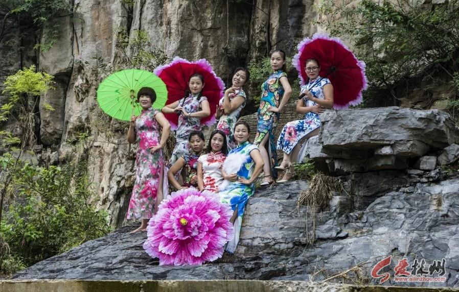 林州东姚石大沟的最美女人花