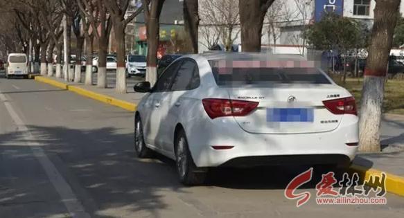 林州:龙安路设禁止停车线,禁止长时停车标示图片