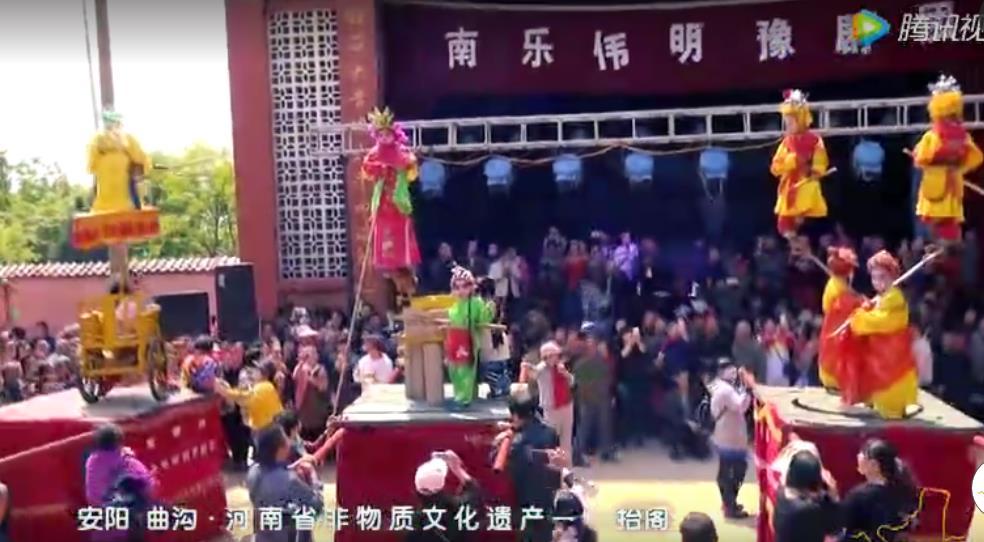 """林州:姚村非物质文化遗产表演""""抬阁"""" (2925播放)"""