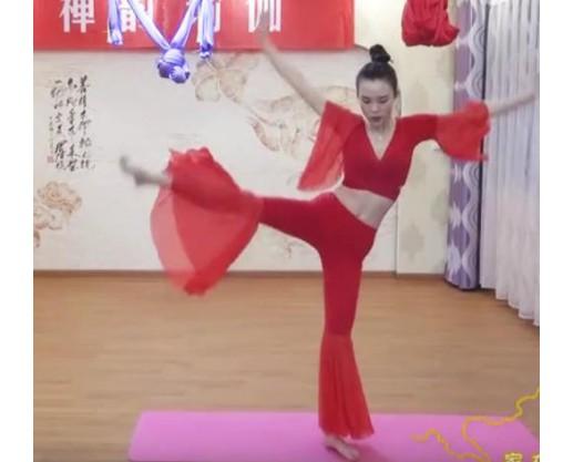 """林州:美女瑜伽老师展示""""舞蹈""""瑜伽 (3156播放)"""