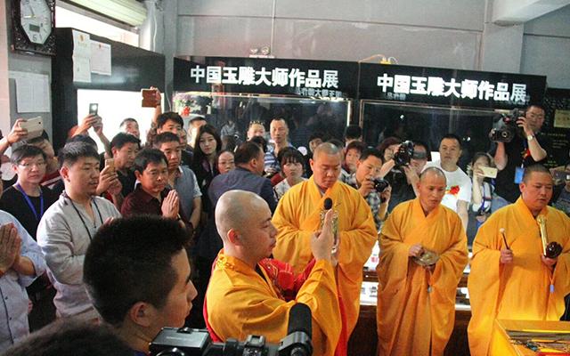 「直播」林州雕刻艺术文化节 洞林大觉禅寺主持为众生开光祈福