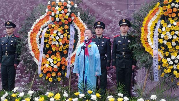 杨贵老书记追思会上,林州一实小五年级女孩的含泪发言