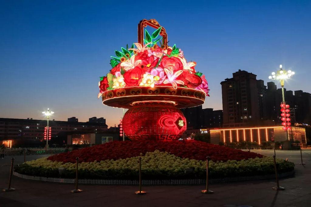 年味渐浓!林州夜景美如画 感受新春氛围