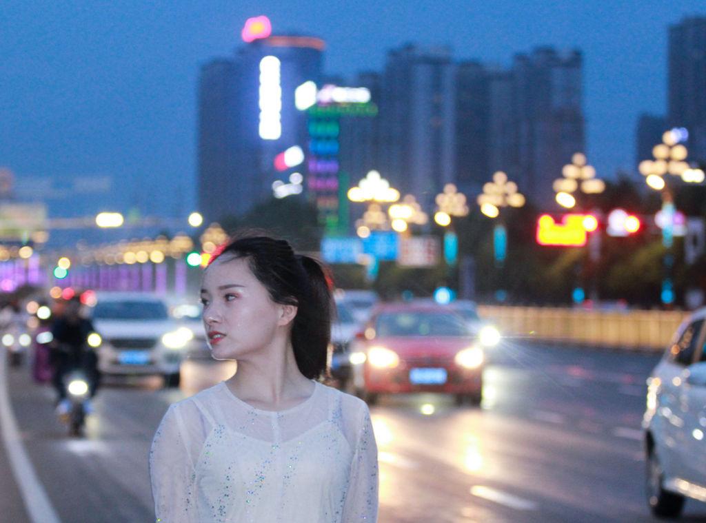 林州:红旗渠大道傍晚——人像摄影