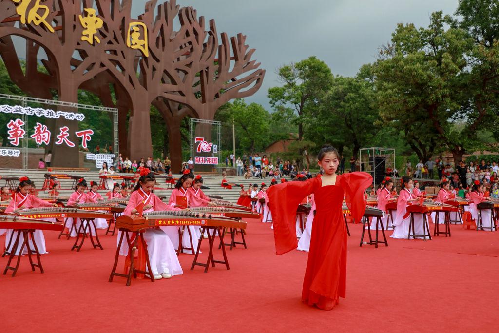 中国古筝日·盛世国乐·筝韵天下 林州百人古筝音乐会 (91)